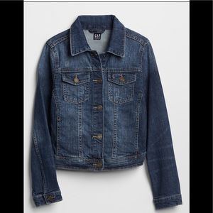Girls gap destructed denim jacket